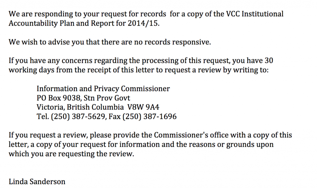 VCC response