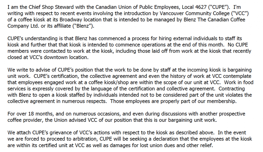 Blenz CUPE 4627 certification