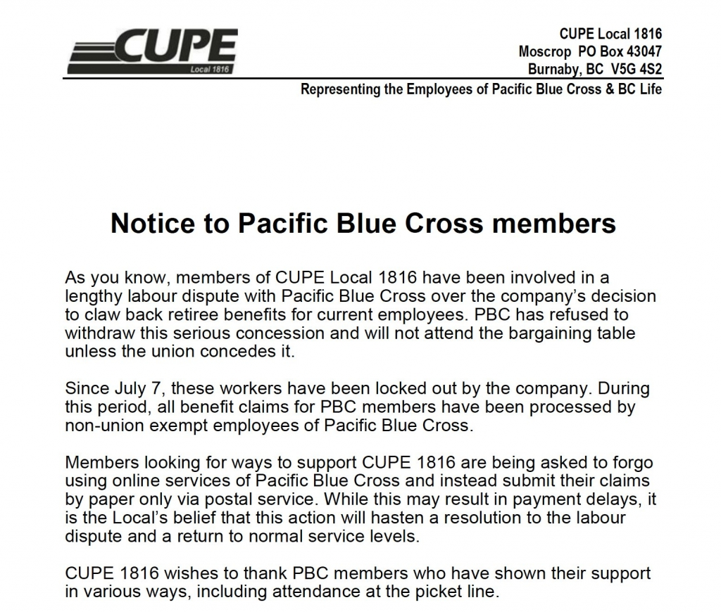 Notice to PBC