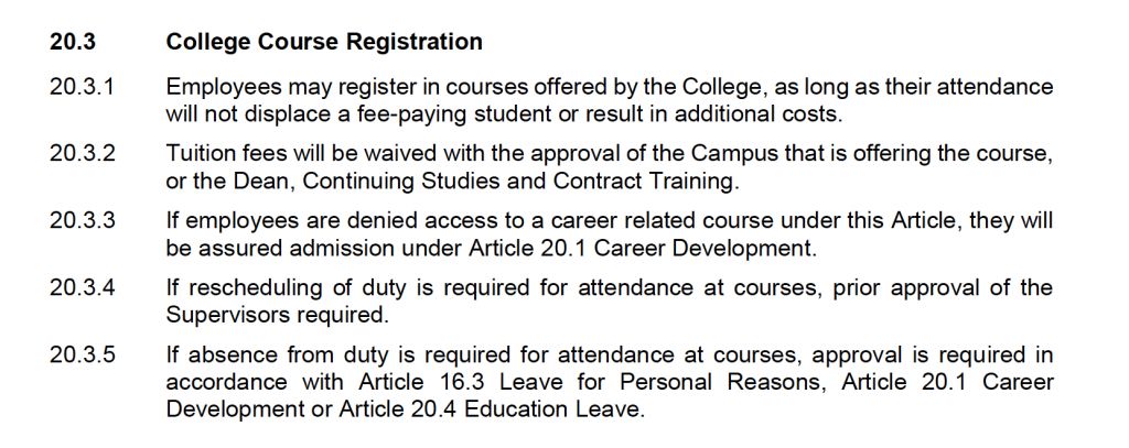 20.3 College Course Registration