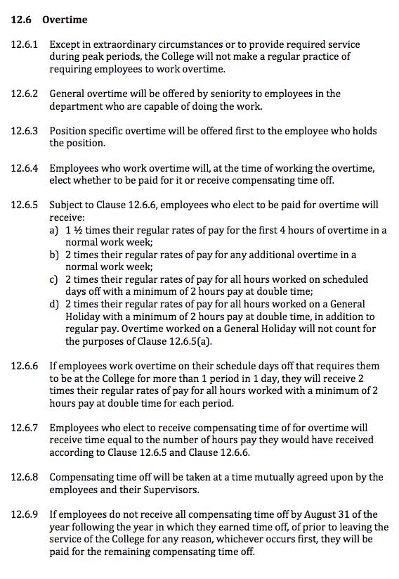 Overtime CA 12.6